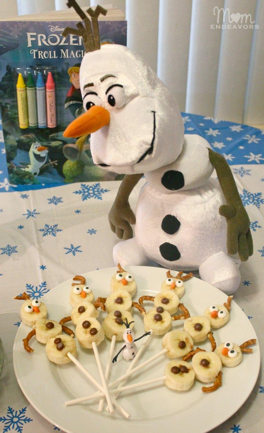 Olaf Snowman Banana Treats