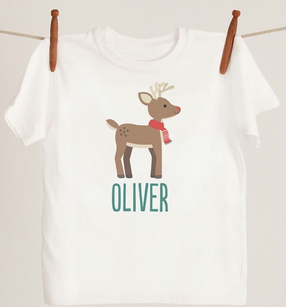 Personalized Kids Christmas T Shirt