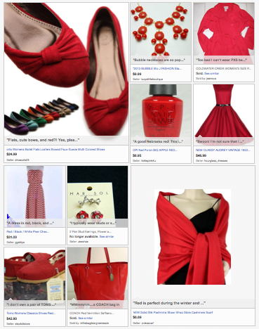 Red Fashion Finds eBay Collection #FollowItFindIt
