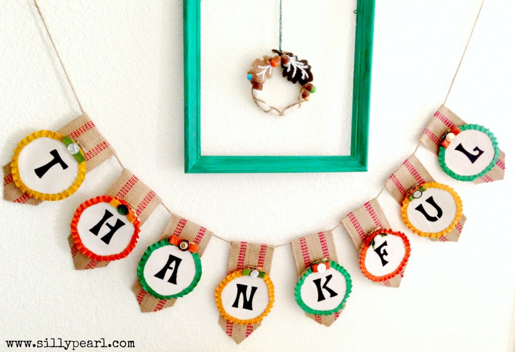Thanksgiving Banner--The Silly Pearl on Mom Endeavors