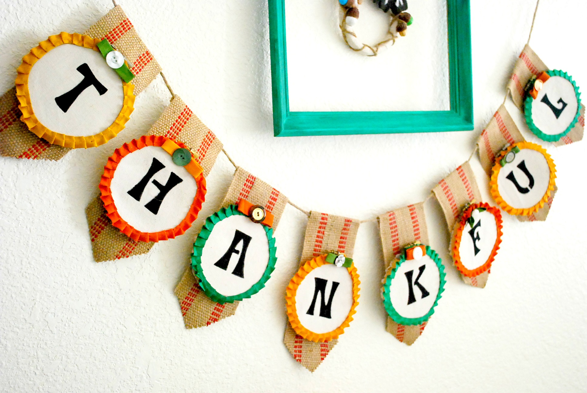 Thanksgiving Embroidery Hoop Banner