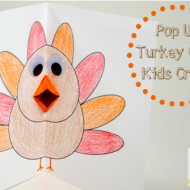 Thanksgiving Kids Craft: Pop Up Turkey Card (with free printable)