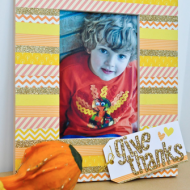 Thanksgiving Craft: Washi Tape Frame {from Bombshell Bling}