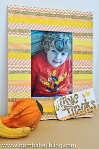Thanksgiving Washi Tape Frame