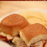 Turkey Cranberry BBQ Sauce Sliders {College Football Tailgate Link Party}