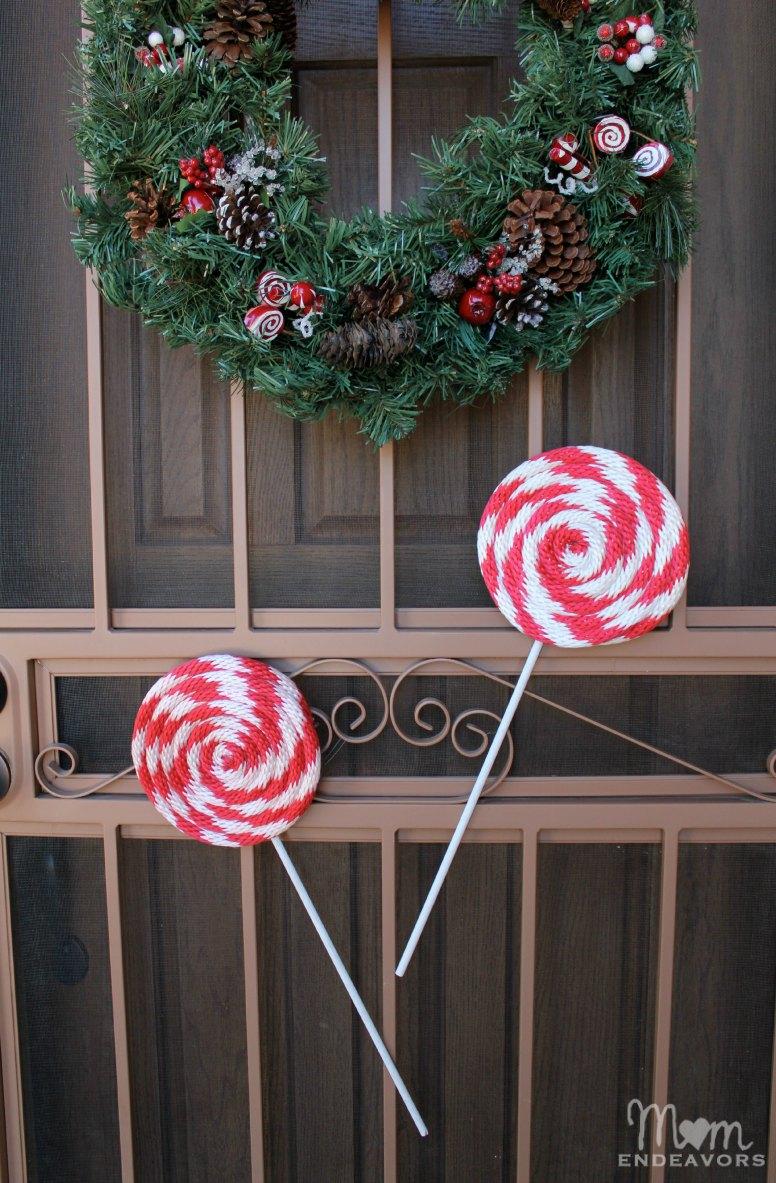 Candy Cane Lollipops Decor
