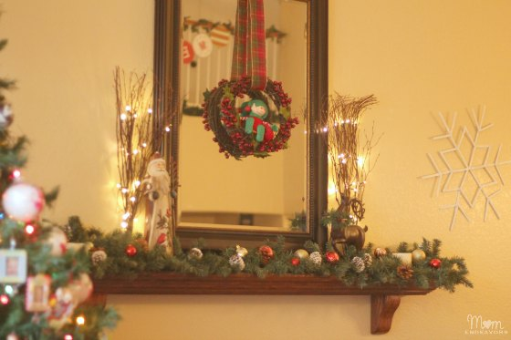 Christmas Mantel & Giant Snowflakes