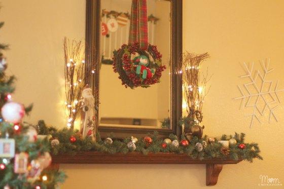 Christmas Mantel & Giant Snowflakes
