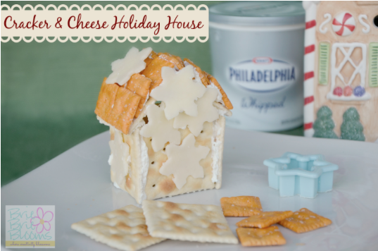 Cracker & Cheese Holiday House Snack