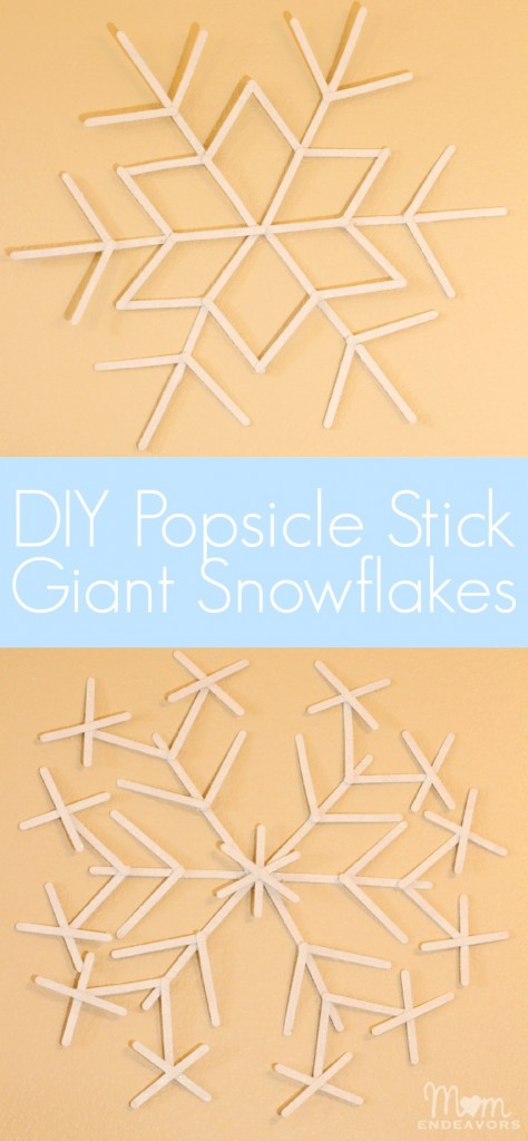 DIY Popsicle Stick Giant Snowflakes