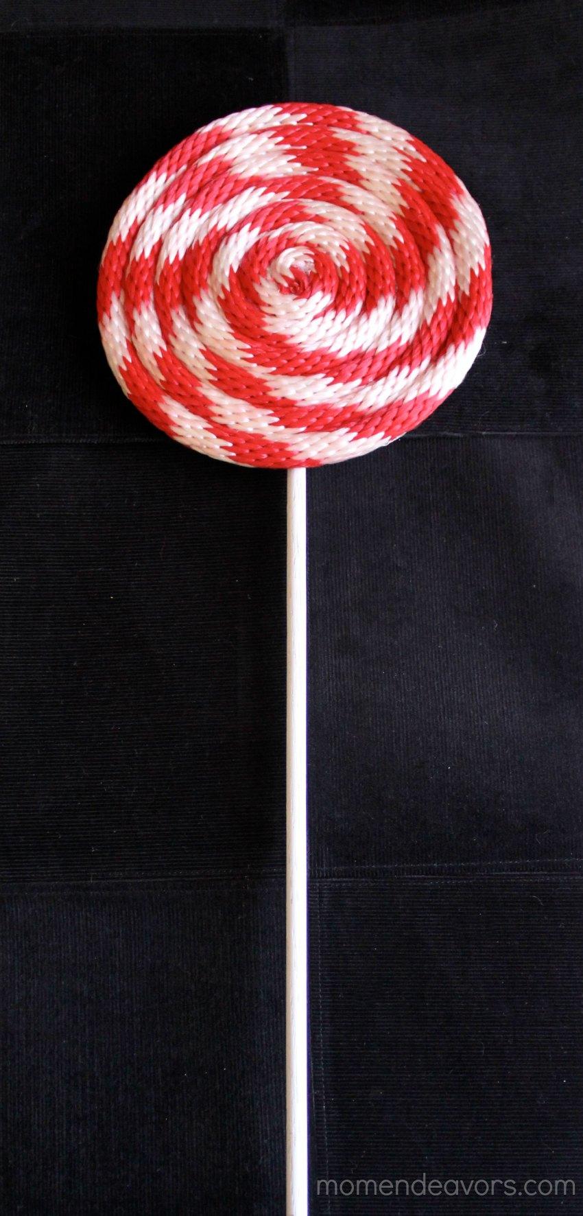 DIY Red & White Lollipop