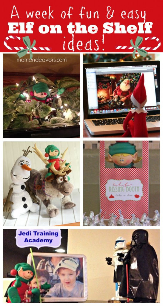 Easy Elf on the Shelf ideas for a week!