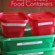 Easy Labeled Holiday Food Containers