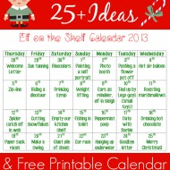 25+ Elf on the Shelf Ideas with Printable Calendar (+ an #ElfontheShelf Link Party!)