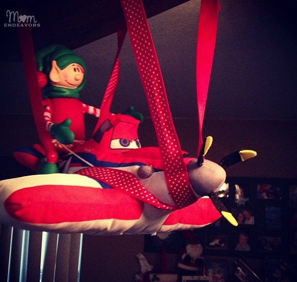 Flying Disney Planes Elf on the Shelf Idea