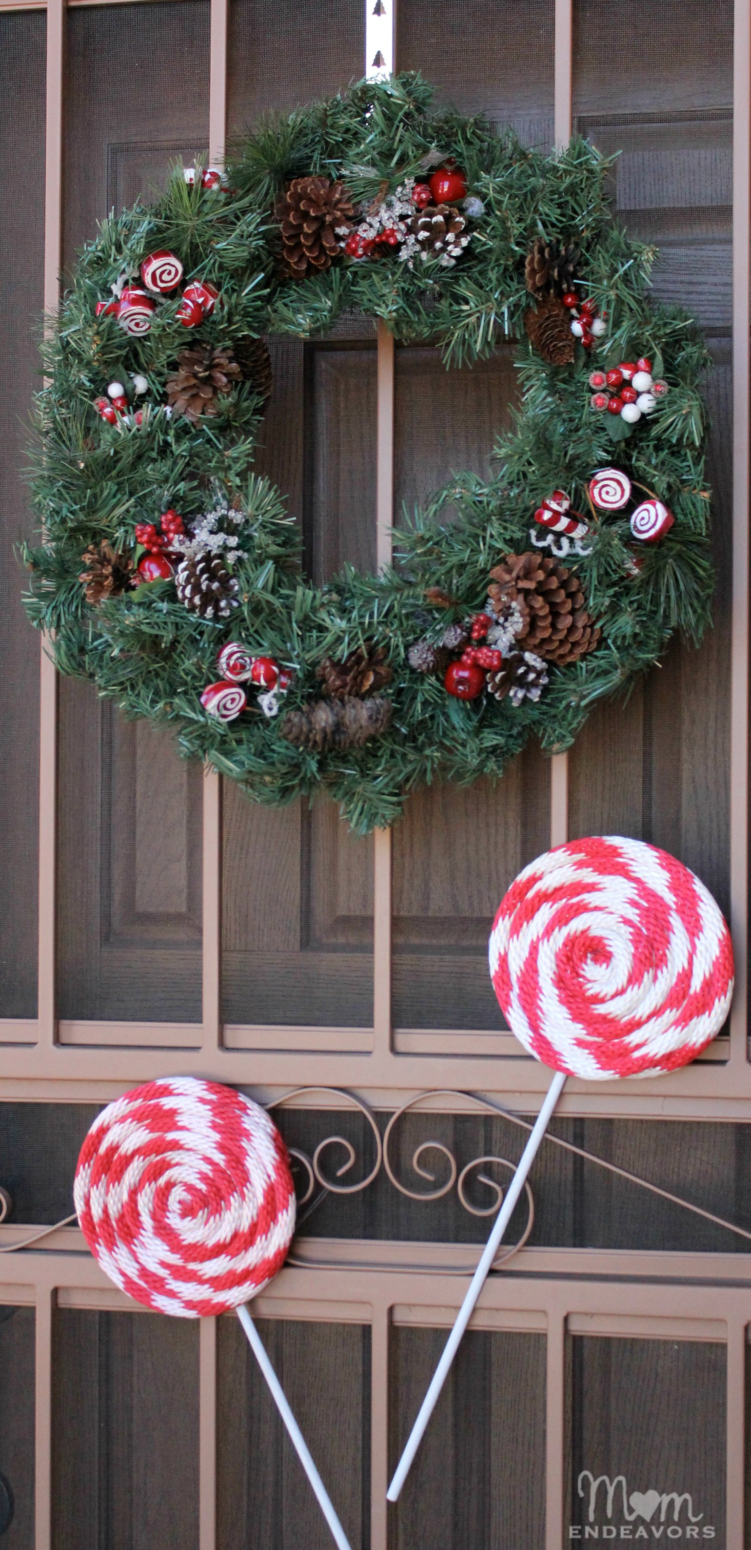 giant peppermint lollipops - Lollipop Christmas Decorations