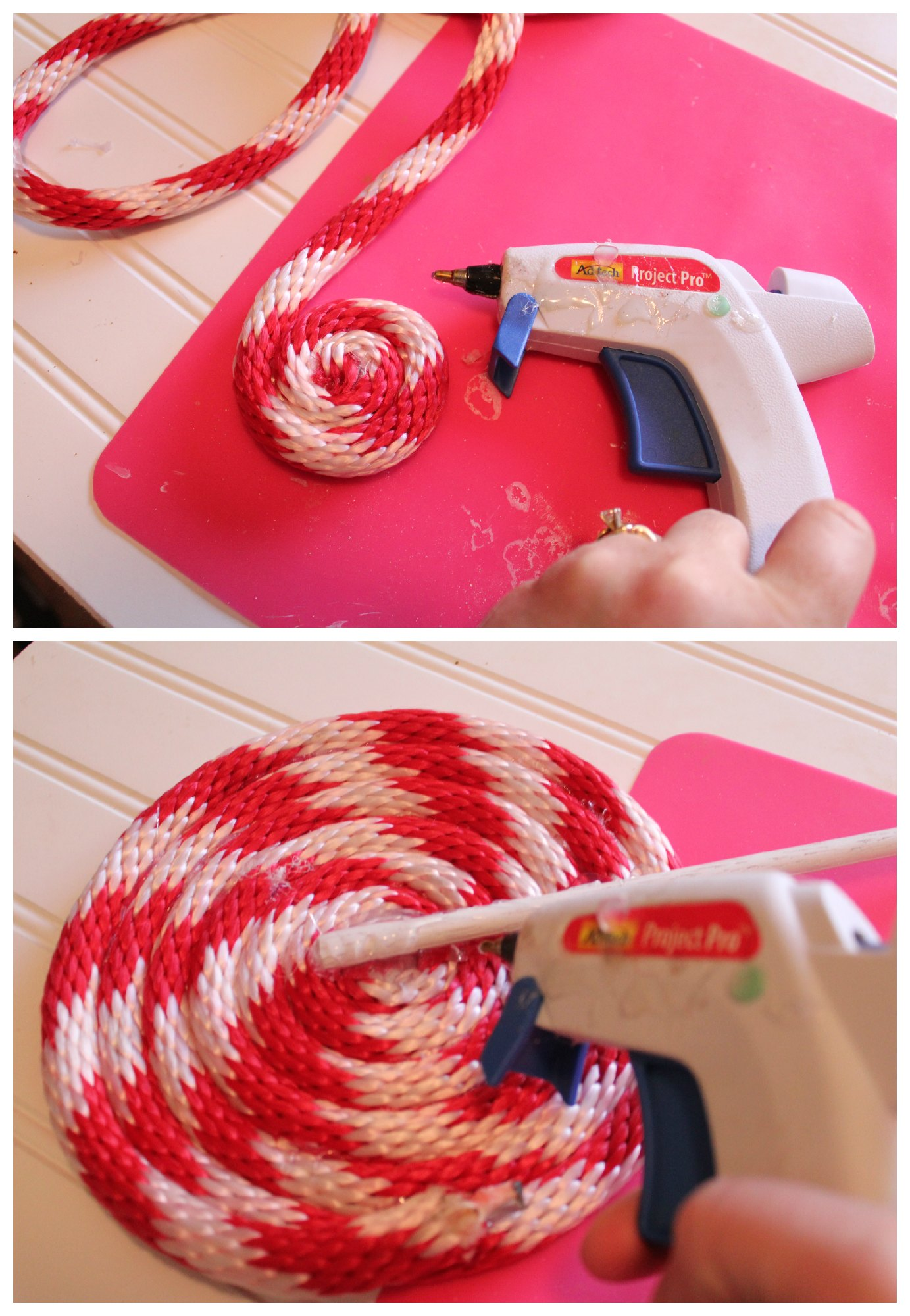 Making rope lollipops