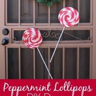 DIY Peppermint Lollipops Christmas Decor