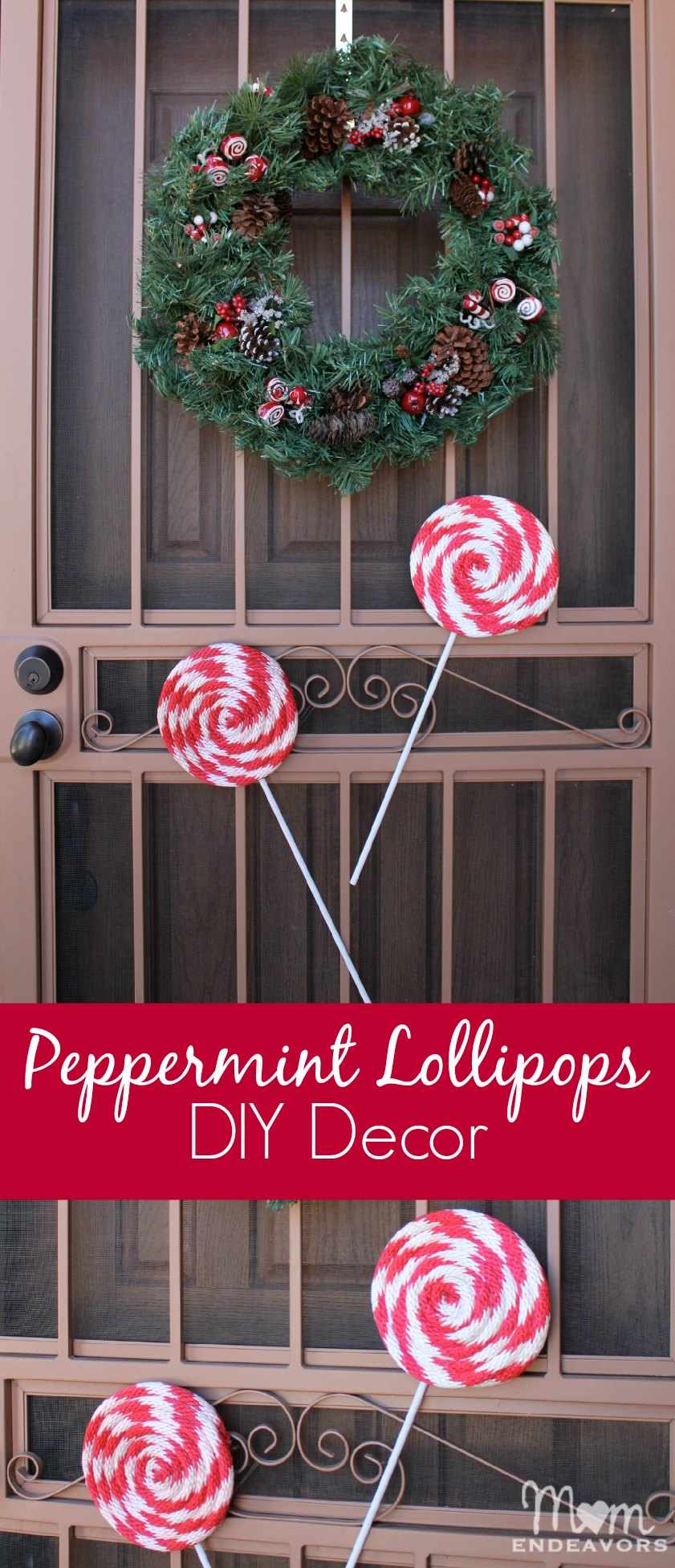 peppermint lollipops diy christmas decor - Lollipop Christmas Decorations