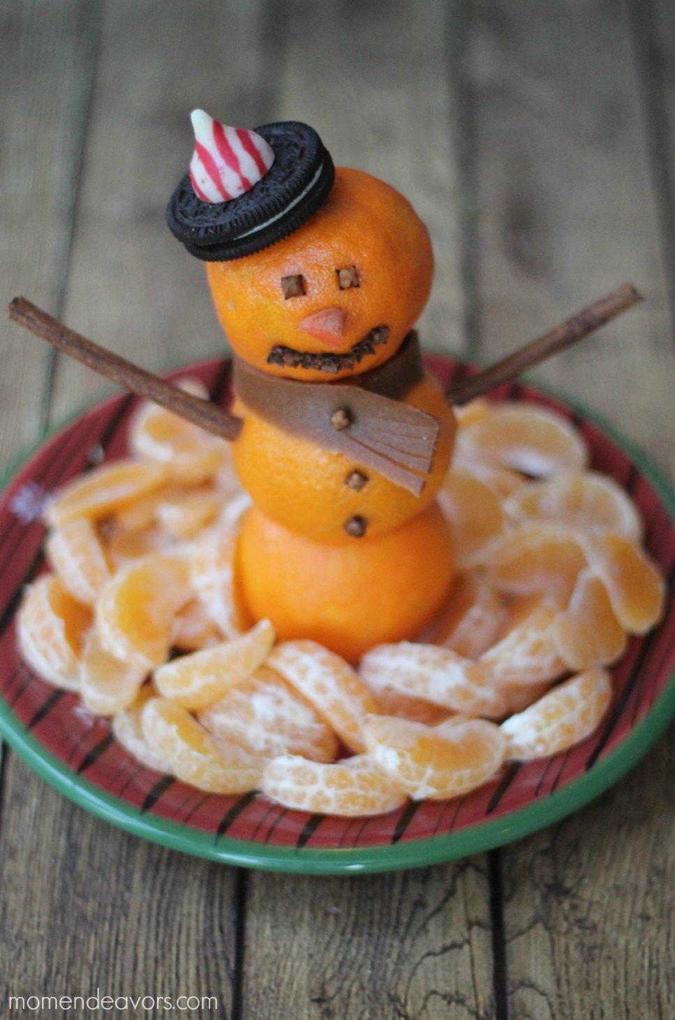 Snowman Christmas Fruit Platter