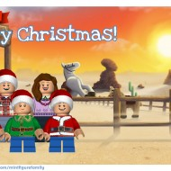 Make a LEGO Minifigure Holiday Card!
