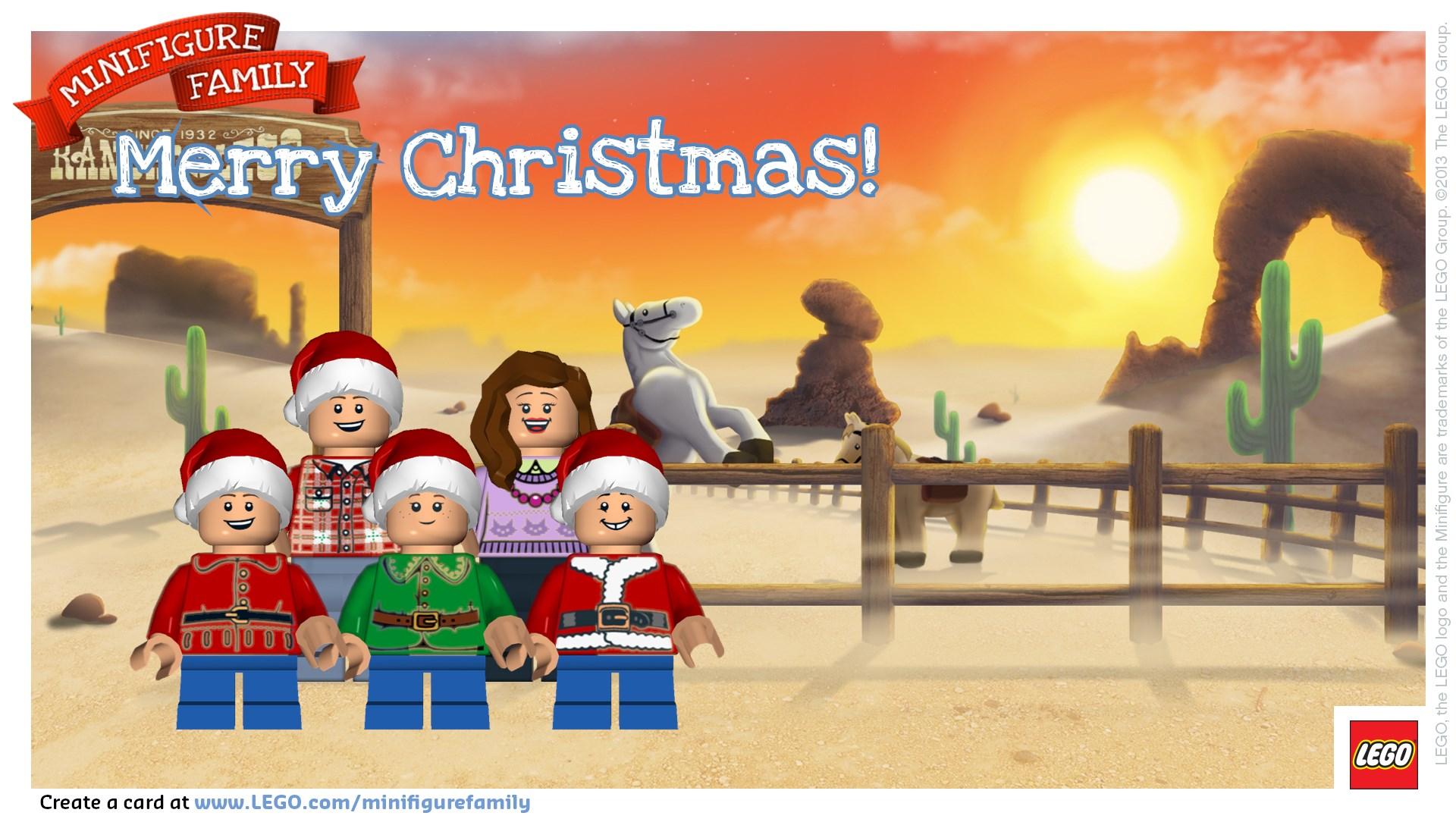 Make a LEGO Minifigure Holiday Card!