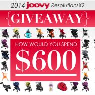 $600 Joovy 2014 ResolutionsX2 Giveaway!