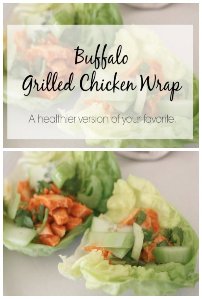 Buffalo Grilled Chicken Lettuce Wraps