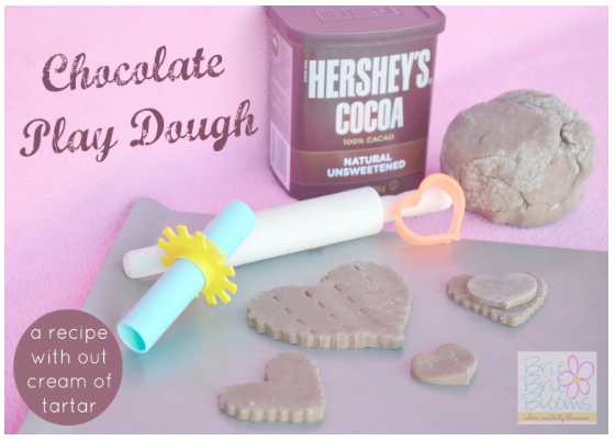 Chocolate Play Dough made without Cream of Tartar!
