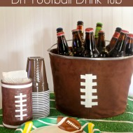 Football Party Decor: DIY Football Drink Tub