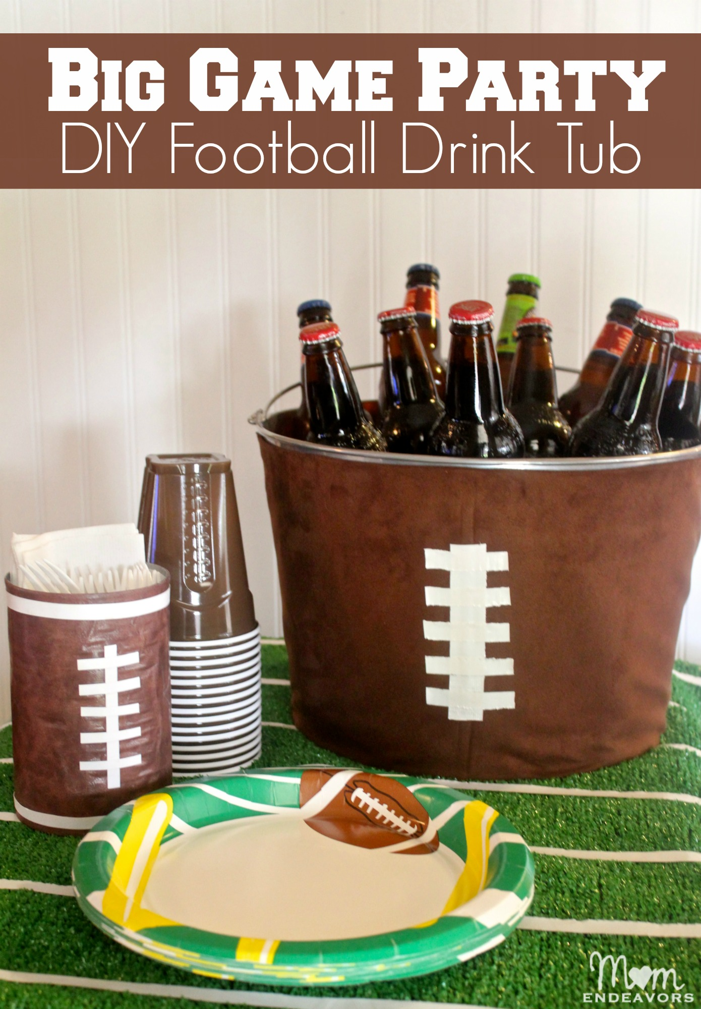 Football Party Decor Diy Football Drink Tub