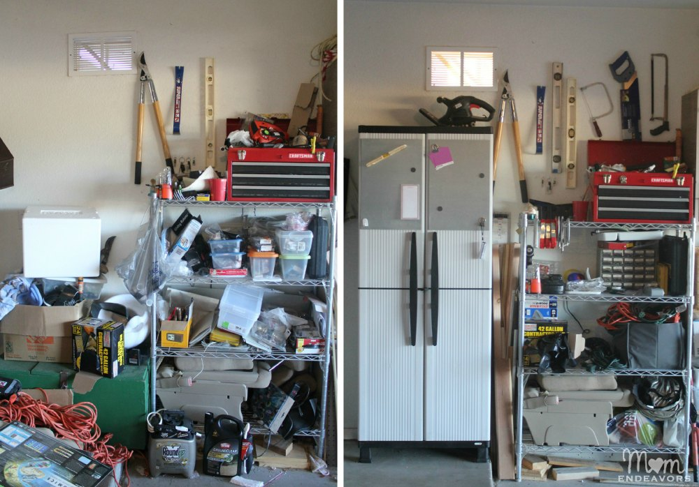 Garage Makeover Before & After