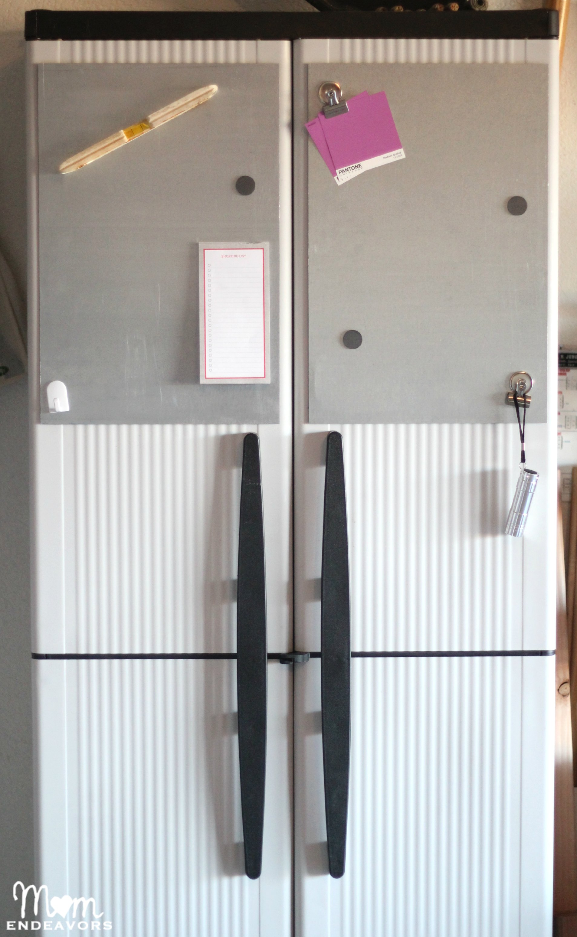 Storage Cabinet With DIY Magnetic Boards