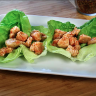 #Ad: Sweet 'n Spicy Chicken Lettuce Cups #JustAddThis