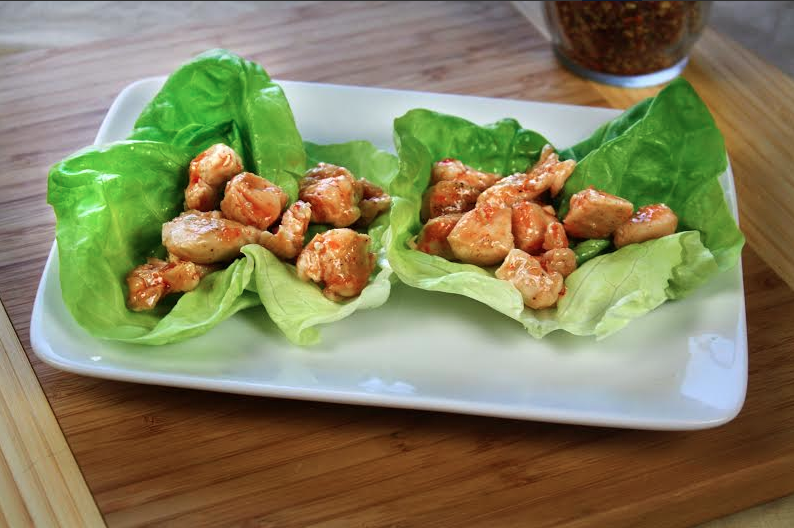 Sweet 'n Spicy Chicken Lettuce Cups
