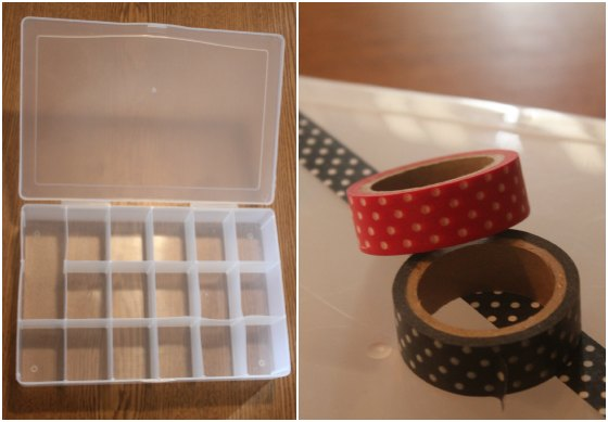 Washi Tape Floss Organizer