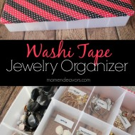 Washi Tape Jewelry Organizer