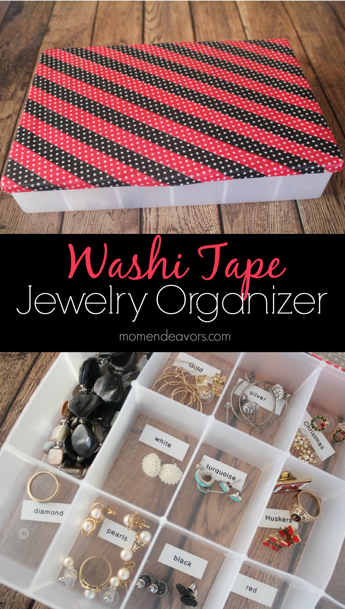 Washi Tape Jewelry Organizer
