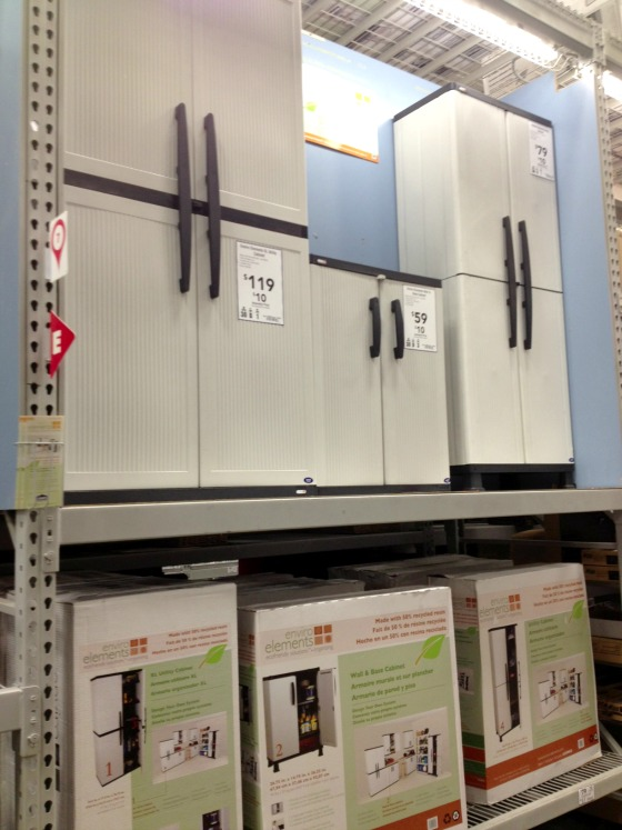 storage cabinets at Lowe's