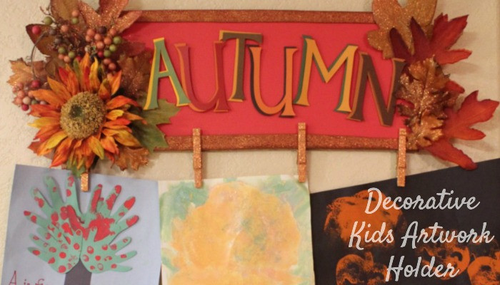 Autumn Kids Artwork Holder