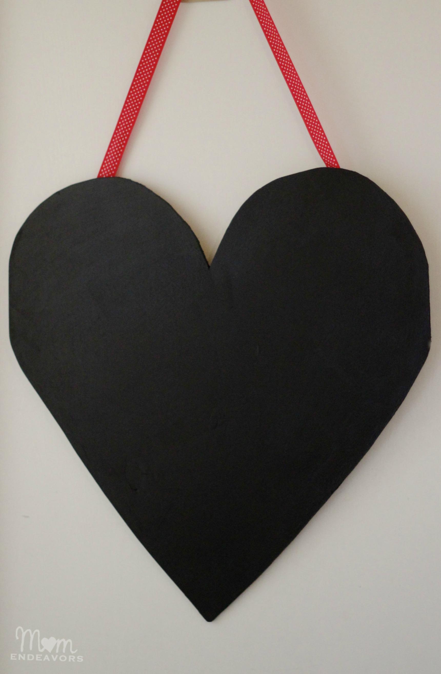 Chalkboard Wooden Heart