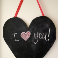 Large DIY Chalkboard Heart