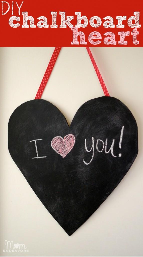 DIY Chalkboard Heart