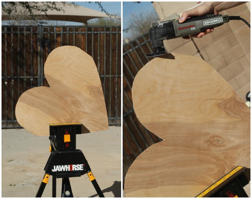 DIY wooden heart