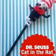 Dr. Seuss Craft: Cat in the Hat Pencil Topper/Finger Puppet