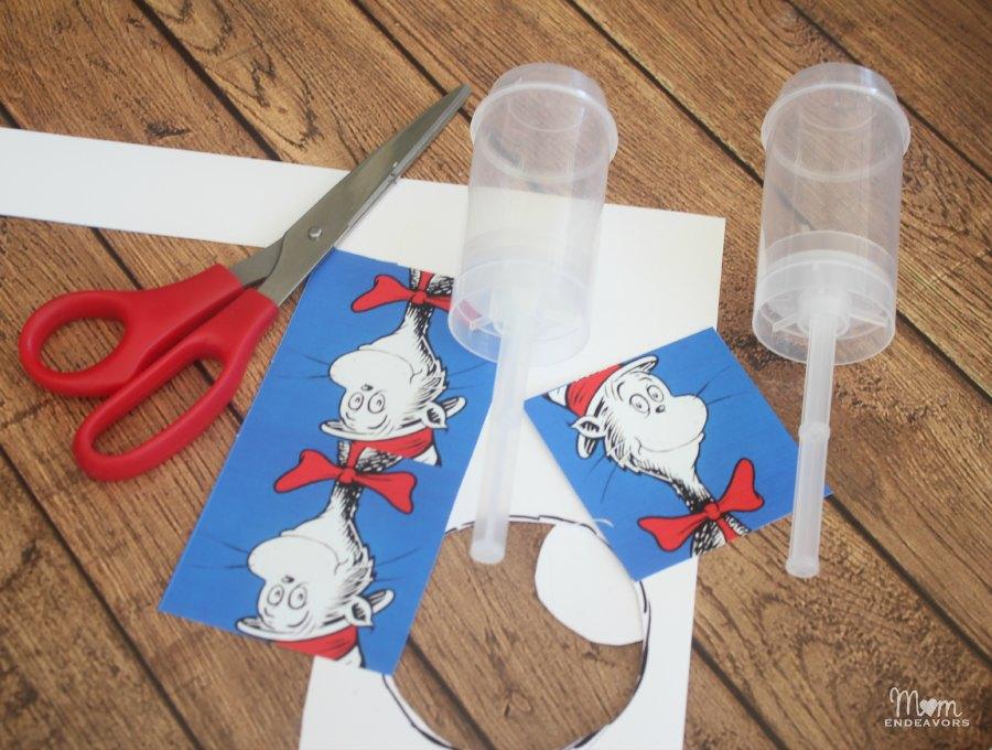 Dr. Seuss push pop supplies