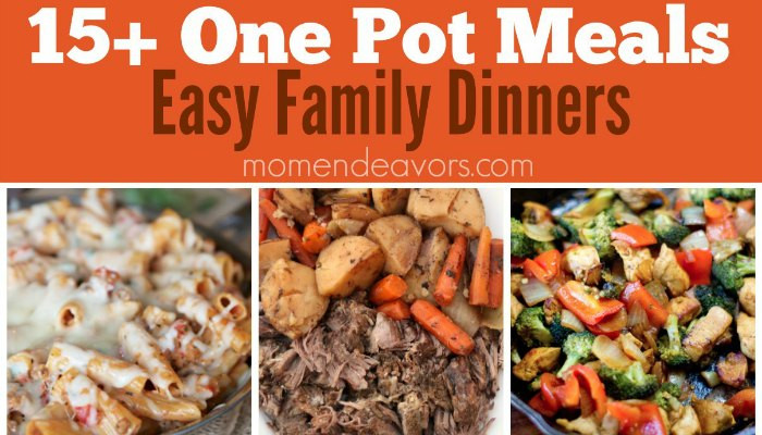 Delicious One Pot Dinners