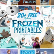 20+ FREE Disney FROZEN Printables {Activity Sheets & Party Decor}