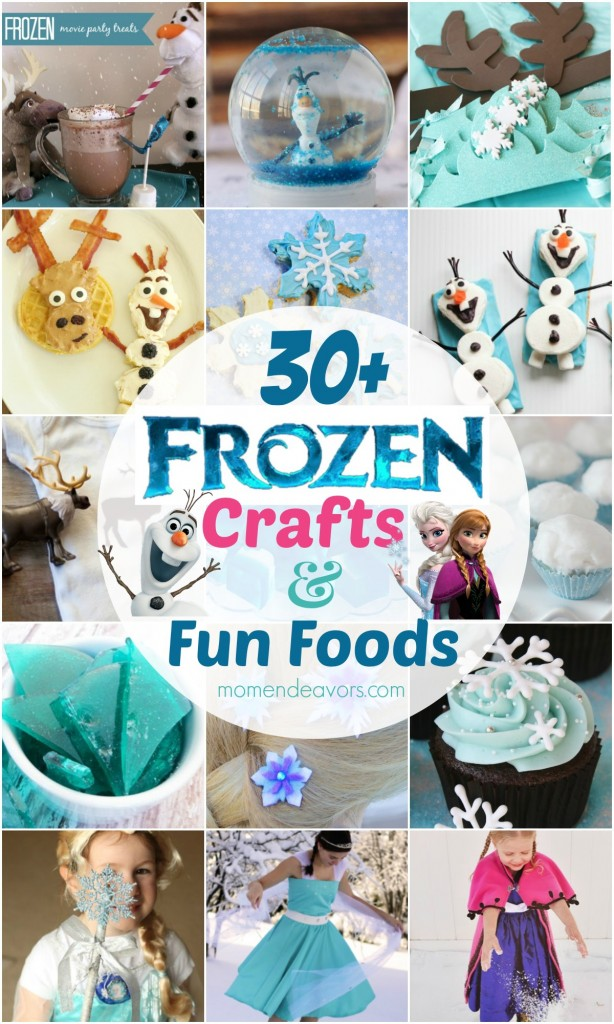30+ Disney Frozen Crafts & Fun Foods