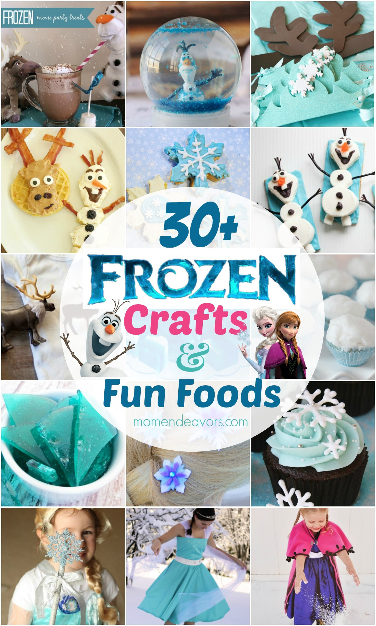 30 Disney Frozen Crafts Fun Food Ideas